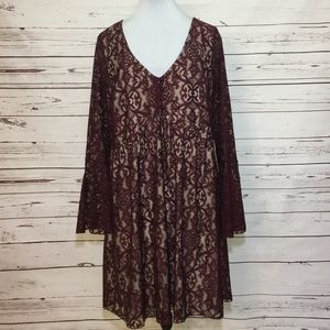 Bailey Blue Maroon Lace Dress